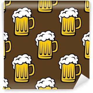 Wall Mural - Vinyl Beer tankards seamless pattern