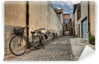 Wall Mural - Vinyl bicycles in the old alley