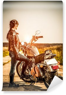 Biker girl Wall Mural - Vinyl