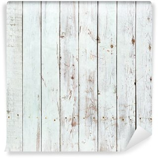 Wall Mural - Vinyl Black and white background of wooden plank