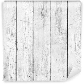 Black and white background of wooden plank Wall Mural - Vinyl
