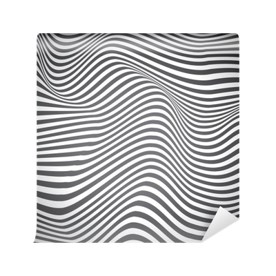 black and white curved lines surface waves vector design