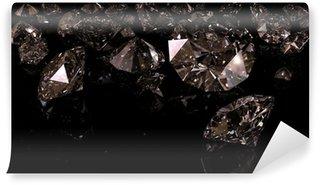 Wall Mural - Vinyl black diamonds