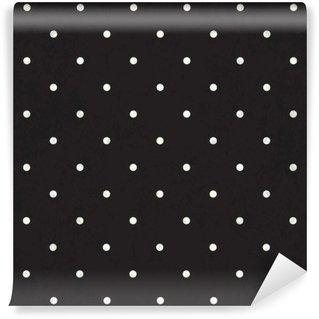 Black polka dot background Wall Mural - Vinyl