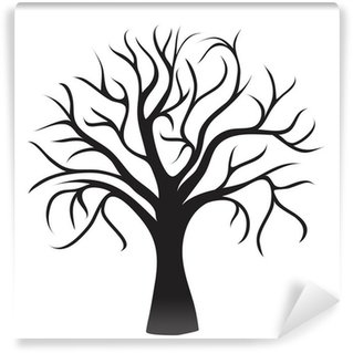 black tree without leaves Wall Mural - Vinyl