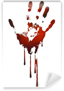 Wall Mural - Vinyl bloody handprint