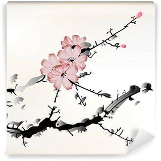 Wall Mural - Vinyl blossom painting