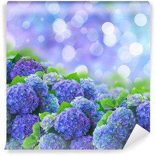 blue hortensia flowers Wall Mural - Vinyl