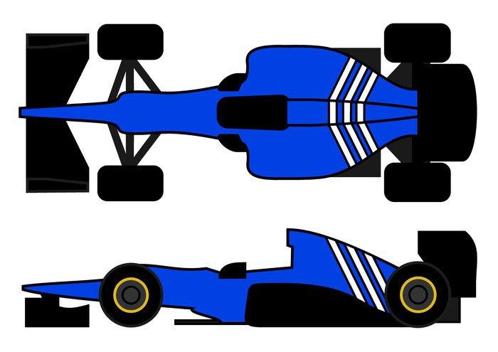Blue Racing Car Wall Mural Vinyl Pixers We Live To Change