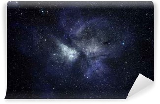 Blue space background Wall Mural - Vinyl