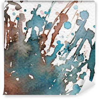Wall Mural - Vinyl blue watercolor background