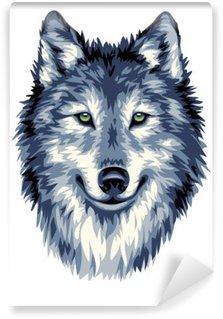 Wall Mural - Vinyl Blue wild wolf