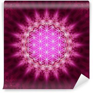 Blume des Lebens - Energetisierung, Heilige Geometrie Wall Mural - Vinyl