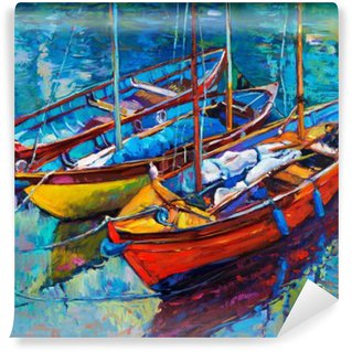 Wall Mural - Vinyl Boats