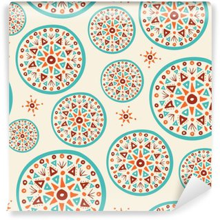 Boho pattern with handmade indian art design