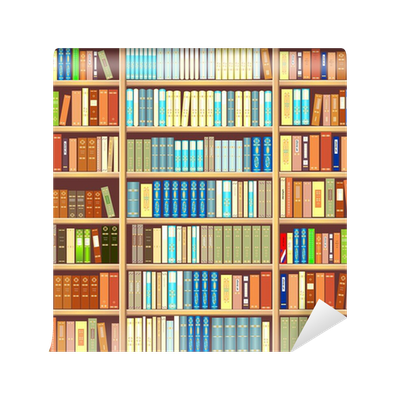 Bookcase Full Of Books Wall Mural Pixers We Live To