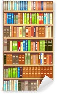 Wall Mural - Vinyl Bookcase