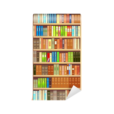 Bookcase wall mural pixers we live to change for Bookcase wall mural