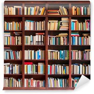 Wall Mural - Vinyl Bookshelf full with books