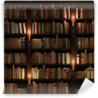 Wall Mural - Vinyl Bookshelf. Seamless texture (vertically and horizontally)