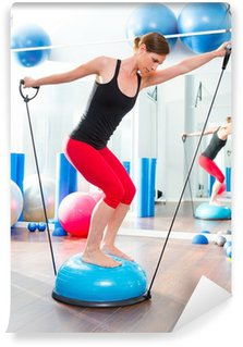 Wall Mural - Vinyl Bosu ball for fitness instructor woman in aerobics