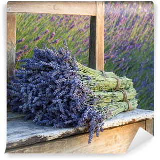 Bouquets on lavenders on a old bench Wall Mural - Vinyl