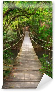 Wall Mural - Vinyl Bridge to the jungle,Khao Yai national park,Thailand
