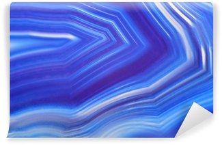 Vinyl Wall Mural bright blue agate texture closeup