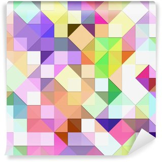 Wall Mural - Vinyl bright pastel mosaic