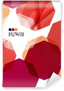 Wall Mural - Vinyl Bright red geometric modern design template