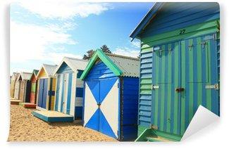 Vinyl Wall Mural Brighton Beach Huts