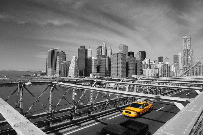 Wall Mural   Vinyl Brooklyn Bridge Taxi, New York