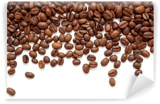 Wall Mural - Vinyl Brown roasted coffee beans isolated on white