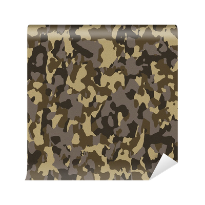 Brown seamless army camouflage wall mural vinyl pixers for Camouflage wall mural