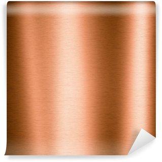 Vinyl Wall Mural Brushed copper metallic sheet