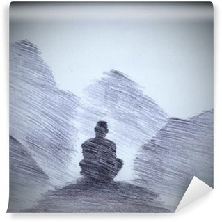 Vinyl Wall Mural Buddhist monk in the mountains