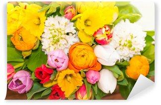 Bunter Blumenstrauß, Floristik, Frühlingsblumen, Ostern Wall Mural - Vinyl