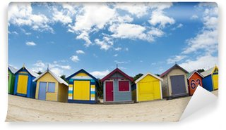Vinyl Wall Mural Cabanes de plage colorées - Brighton beach - Melbourne