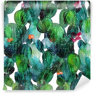 Wall Mural - Vinyl Cactus pattern in watercolor style