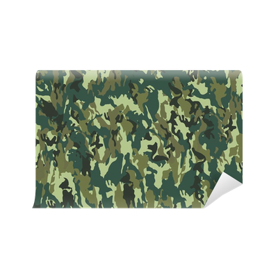 Camouflage pattern wall mural pixers we live to change for Camouflage wall mural