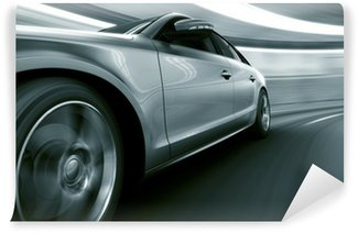 Wall Mural - Vinyl Car driving fast in tunnel