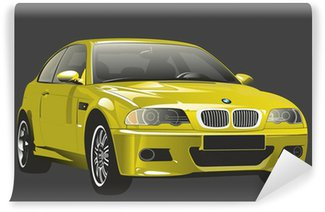 Car looking like BMW M3 Vinyl Wall Mural