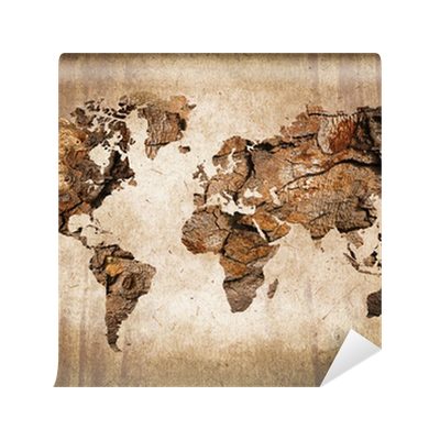 carte du monde bois texture vintage wall mural pixers we live to change. Black Bedroom Furniture Sets. Home Design Ideas