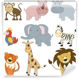 Cartoon african animals set Wall Mural - Vinyl