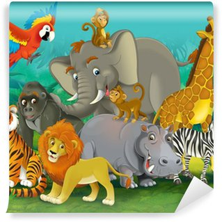 Cartoon safari - illustration for the children Wall Mural - Vinyl