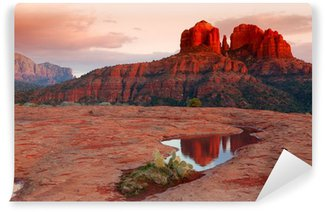 Cathedral Rock Reflection Wall Mural - Vinyl