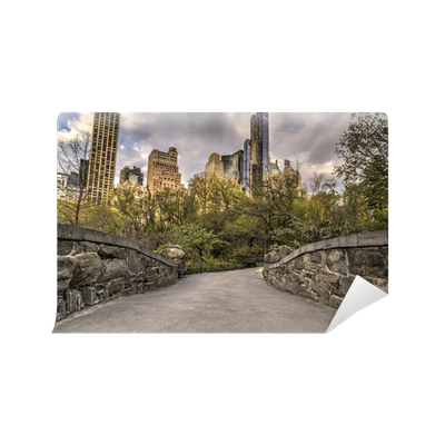 Central park new york city wall mural pixers we live for Central park mural