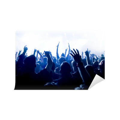 Cheering crowd at concert wall mural pixers we live for Audience wall mural