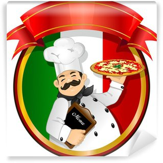Wall Mural - Vinyl Chef pizza vector