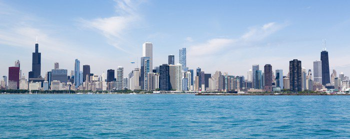 Wall Mural   Vinyl Chicago Skyline   Themes Part 41